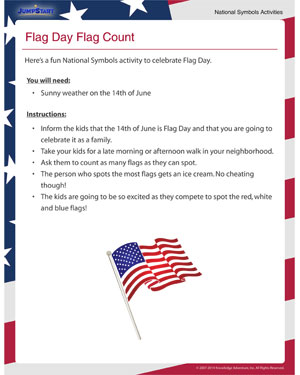 Flag Day Flag Count - Free Activity for Flag Day