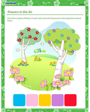Flowers in the Air – Printable Spring English Worksheet