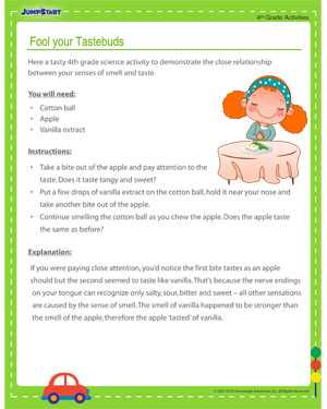 Fool your Tastebuds – Free Science Activity and Printable for Grade 4