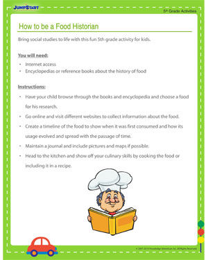 How to be a Food Historian – Social Studies is Fun when you have this interesting 5th Grade Activity
