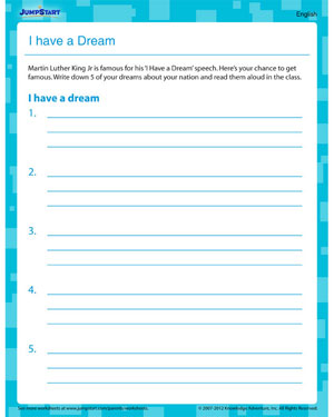 Number Names Worksheets martin luther king worksheets free : I Have a Dream – Free Printable Worksheet on Martin Luther King ...