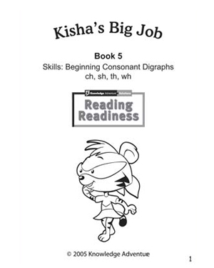 Kisha's Big Job - Free Reading Worksheet for Kids