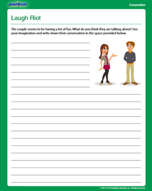 Laugh Riot - Free 4th Grade English Worksheet