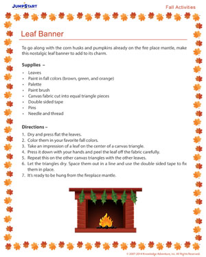 Leaf Banner - Free Fall Resource for Kids