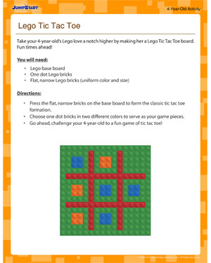 Lego Tic Tac Toe - How to make a tic tac toe board out of lego