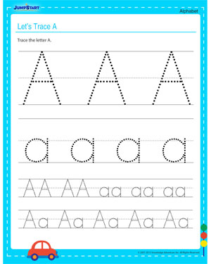 Let's Trace A – Free Alphabet Printable for Kids