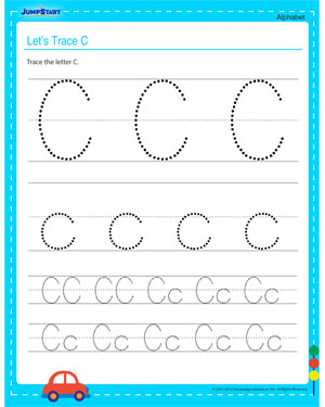 Let's Trace C – Free Alphabet Worksheet to Teach your Child