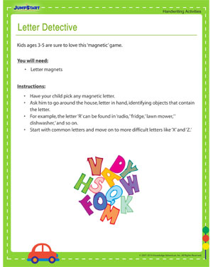 Letter Detective - Printable Activity to Improve Kids' Handwriting