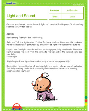 Light and Sound Show - Free Learning Activities for Toddlers