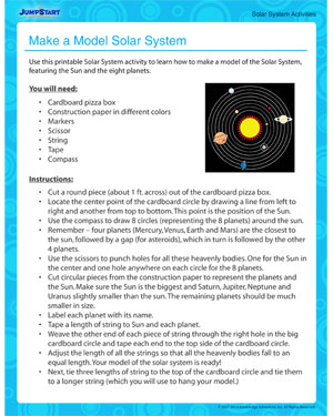 Make a Model Solar System – Free Solar System Activity for Kids