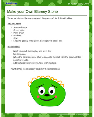 Make your Own Blarney Stone - Printable Free St. Patrick's Day Craft