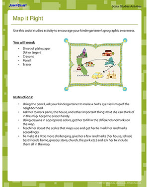 Map It Right - Fun Geography Activity for Kindergarten