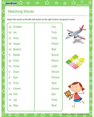 Matching Words - Download Critical Thinking Worksheet