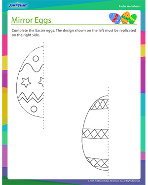 Did you see 'Mirror Eggs?'- Free Easter Worksheet for Kids
