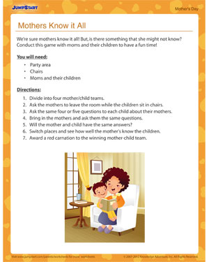 Mothers Know it All! – Kids' activity