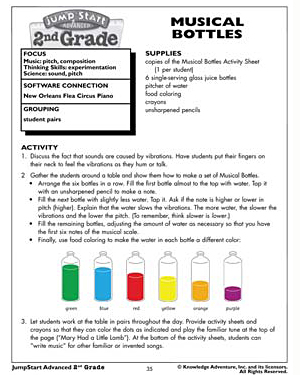 Musical Bottles - Free Science Worksheet for Kids