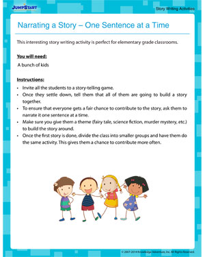 Narrating a Story – One Sentence at a Time - Fun Language Arts Activity for Kids