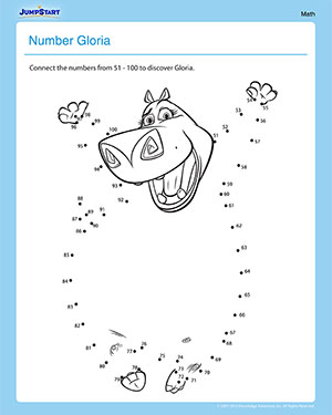 Number Gloria - Madagascar Math Worksheet
