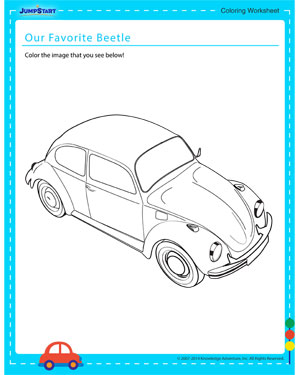 Our Favorite Beetle - Coloring worksheet for kids