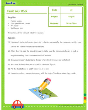 Paint Your Book - English classroom activity for kids
