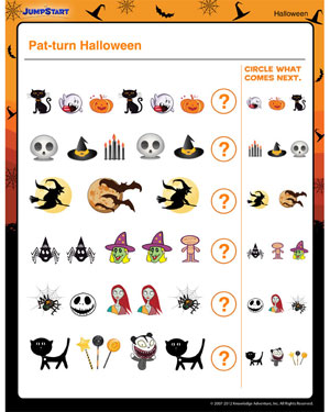 Pat-Turn Halloween - Free Halloween Printable for Kids
