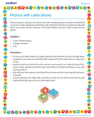 Phonics with Letter Blocks - Phonics activity for kids