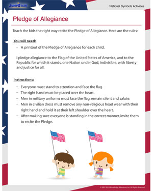 Pledge of Allegiance - Helping kids learn the Pledge of Allegiance