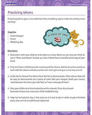 Practicing Idioms - Activity for 8-year olds