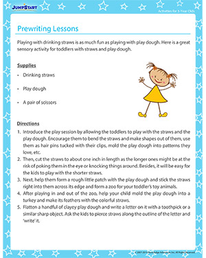 Prewriting Lessons - Activity for 3-year olds