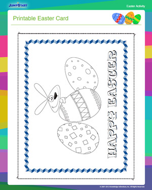 Printable Easter Card - Free Easter Activity for Kids