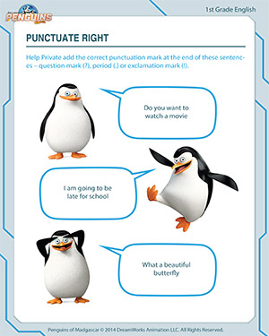 Punctuate Right - English Worksheet