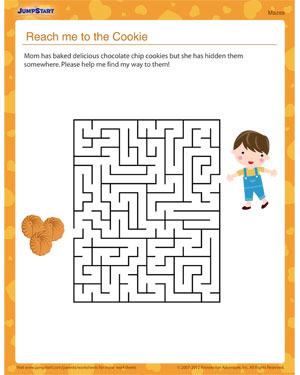Reach Me to the Cookie! – Worksheet for Mother's Day
