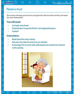Read-a-loud - Printable Reading Activity