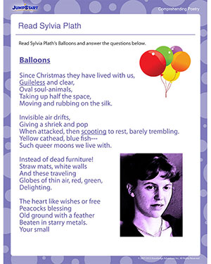 Read Sylvia Plath - Free Reading Poetry Worksheet for Kids