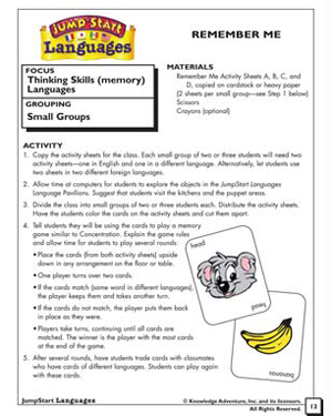 CRemember Me - Free Critical Thinking Worksheet for Kids