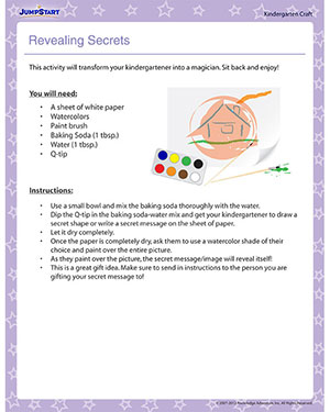 Revealing Secrets - Printable Coloring Activity for Kindergarten