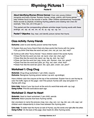 Rhyming Pictures 1 - Free English Worksheet for Kids