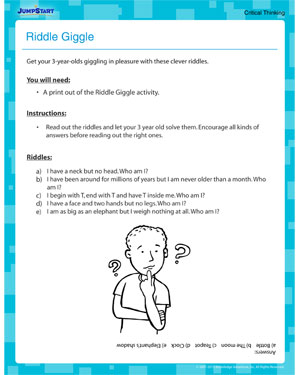 Riddle Giggle - Free Fun Activity for Toddlers