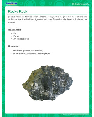 Rocky Rock - Classroom activity on geography for kids