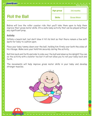 Roll the Ball - Free Learning Activities for Toddlers