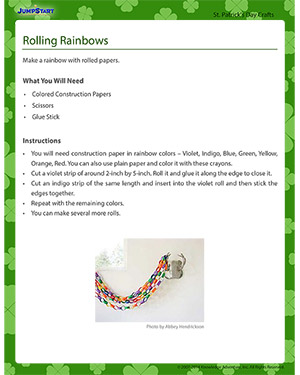 Rolling Rainbows - Free St. Patrick's Day Crafts for Kids