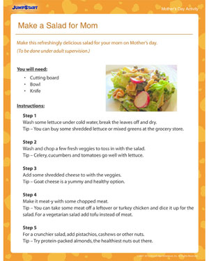 Make a Salad for Mom – Free Mother's Day Activity