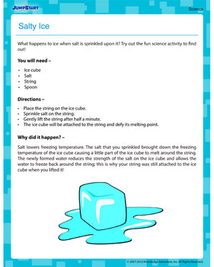 Salty Ice!! - free activities on science