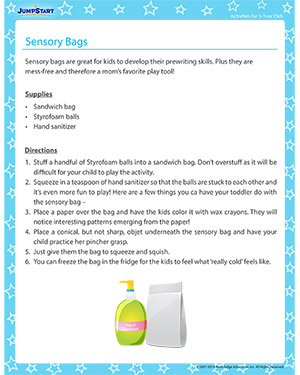 Sensory Bags - Activity for 3-year olds