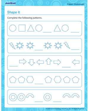 Shape It - Free math worksheet
