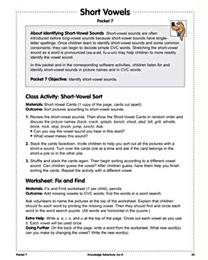 'Short Vowels' - Free English Worksheet for Kids