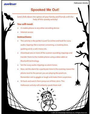 Spooked Me Out - Free Spooky Halloween Ideas for Kids
