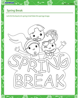 Spring Break - spring worksheet