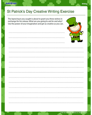 St Patrick's Day Creative Writing Exercise - Free English Worksheet for Kids