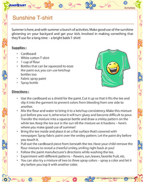 Sunshine T-Shirt – Summer activities